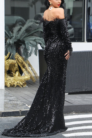 products/Black_Sparkly_Off_Shoulder_Mermaid_Long_Sleeves_Cheap_Evening_Dress_4.jpg