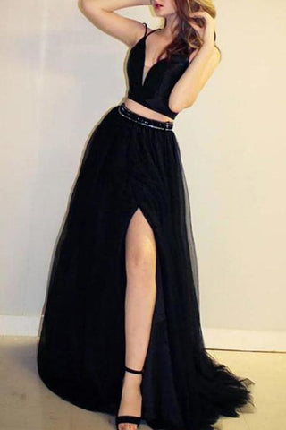 products/Black_Two_Pieces_V-neck_Split_Spaghetti_Straps_Tulle_Evening_Prom_Dress_171.jpg