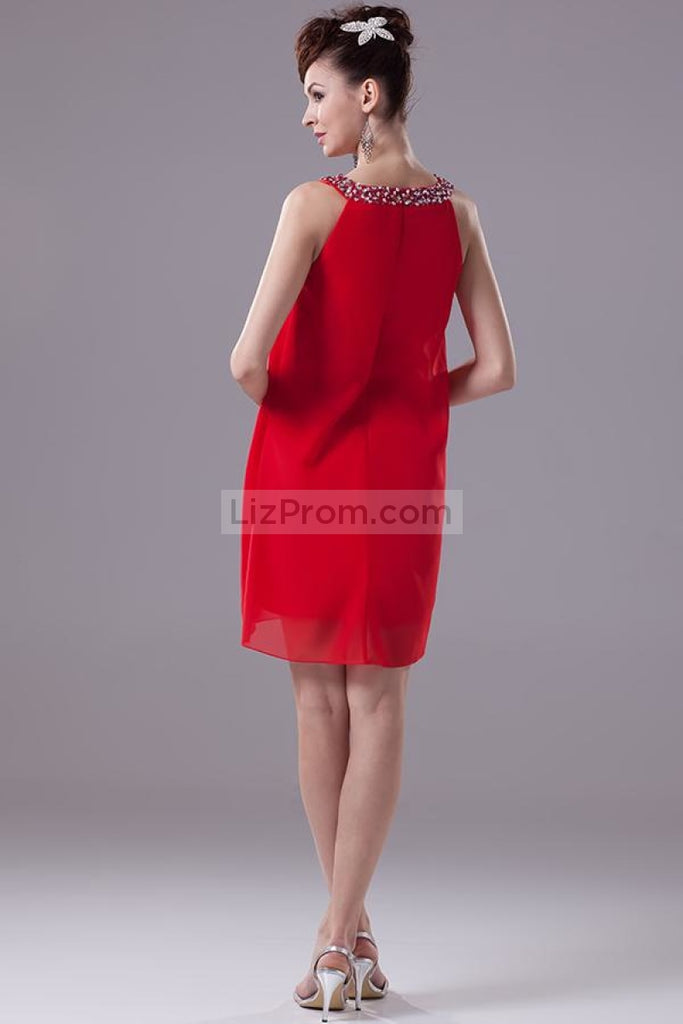 Chic Red Graduation Party Homecoming Dresses