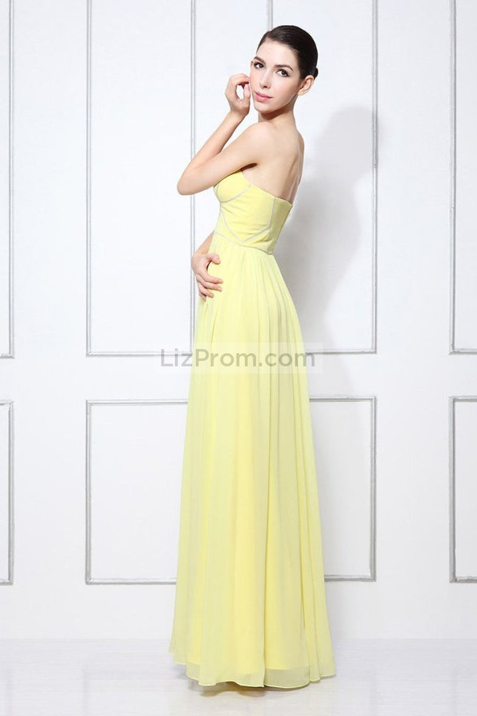 Daffodil Sweetheart Floor Length Long Evening Prom Dress