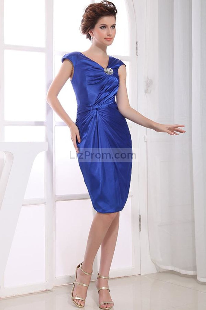 Elegant Royal Blue Knee Length Formal Dress