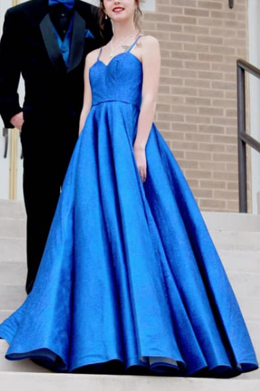 Elegant Royal Blue Wedding Ball Gown