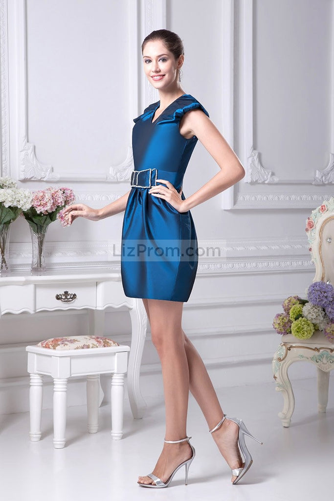 Ink Blue Bodycon Sexy Mini Dress For Homecoming
