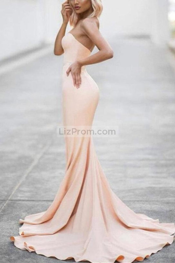 Long Strapless Sweetheart Mermaid Formal Dress Evening Prom Gown Dresses