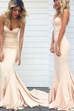 Trumpet/Mermaid Ivory Sweetheart Sleeveless Prom Dress