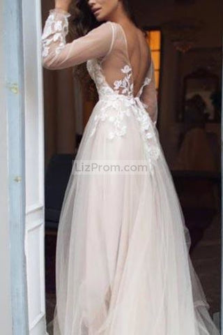 products/White_Tulle_Flower_Lace_Open_Back_Princess_Wedding_Ball_1_556.jpg