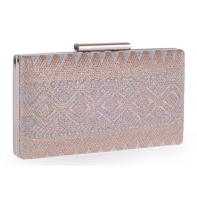 Women's Champagne Fashion Prom Clutch