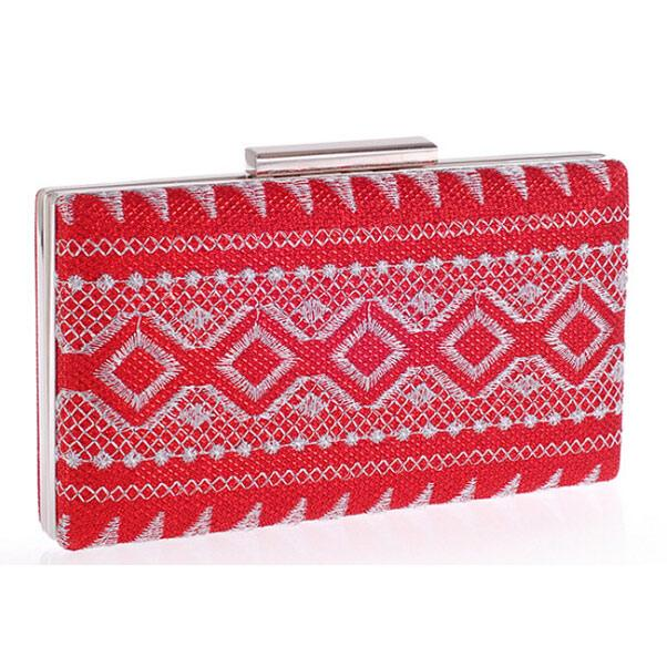 Women's Red Fashion Prom Clutch