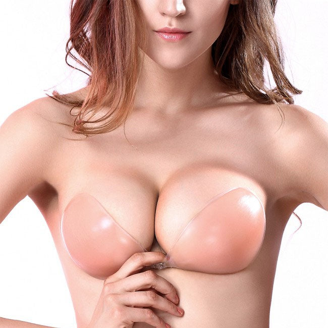 Strapless Silicone Adhesive Sticky Invisible Bras Backless & Push-up Bra