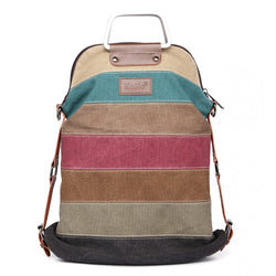 Canvas Stripe Backpack