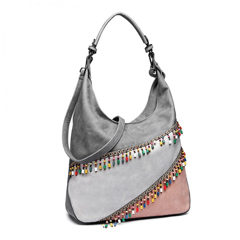 Colour Block Hobo Bag