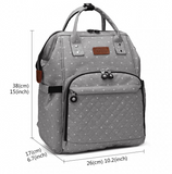 Baby Changing Bag Backpack - Grey Dot