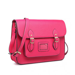 Satchel - Plain Pink Leather Look