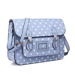 Satchel - Polka Dot - Light Blue
