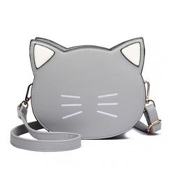 Cat Crossbody Bag - Grey