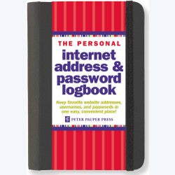 Internet Password Logbook Red/Black