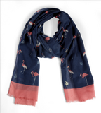 Quintessential - Flamingo Scarf - Navy