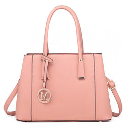 Multi-Compartment Large Handbag - Pink