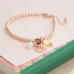 rose gold personalised bracelet