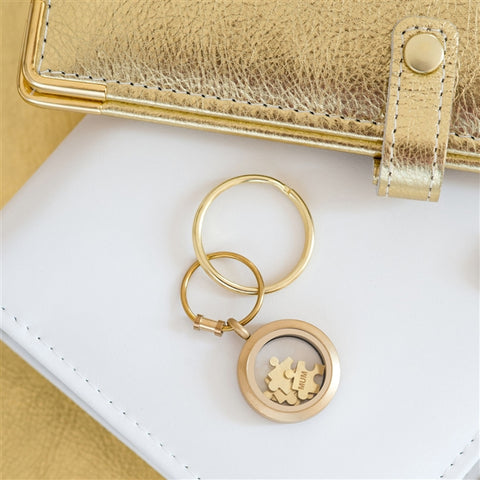 Gold 'Love You To Pieces' Keyring