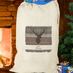 Personalised Highland Stag Cotton Sack