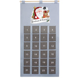 Personalised Santa Advent Calendar In Silver Grey - 20 Characters