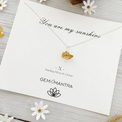 You are my sunshine - Sterling silver & Citrine pendant