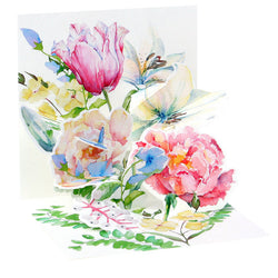 Popshots Mini Card - Watercolour Bouquet