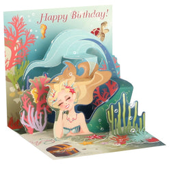 Popshots Mini 3D Pop-up Card - Mermaid