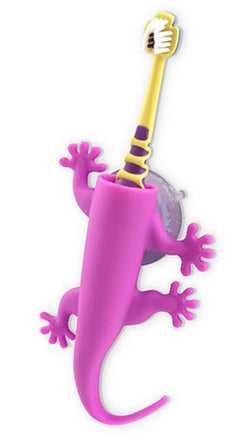 Larry The Lizard Purple - Toothbrush Holder