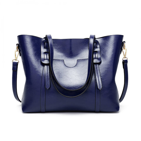 High Shine Leather Look Shoulder Bag