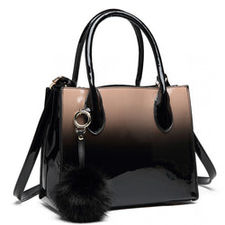 Pom Pom Handbag - Brown