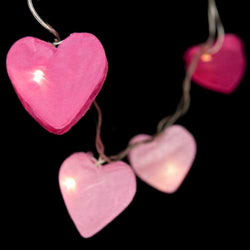 Radiant Hearts LED 10 Pink