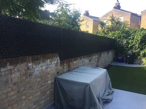 Moucharabiya large garden screen installed by Screen With Envy