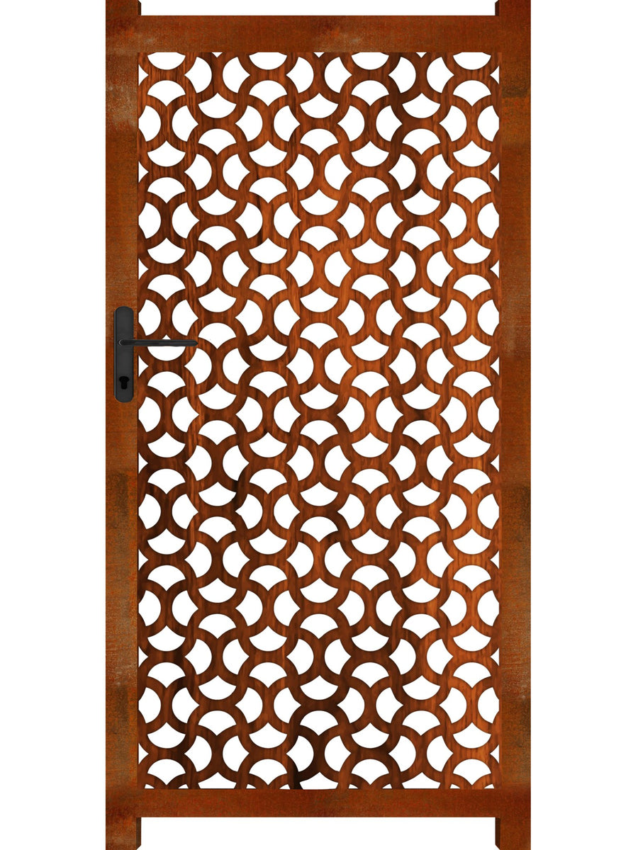 Ellipse Screen Gate - Corten