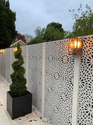 Cream Moucharabiya - Large Garden Screen - 6ft x 3ft