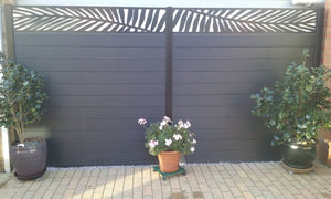 Frond Fence - Black - 7ft Tall