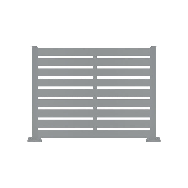 Dove Grey Aluminum Fence - 4ft
