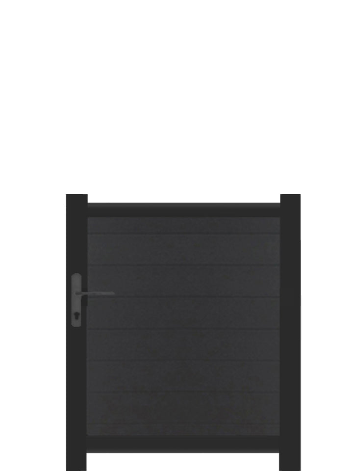 Full Privacy Pedestrian Gate - Anthracite - 3ft height