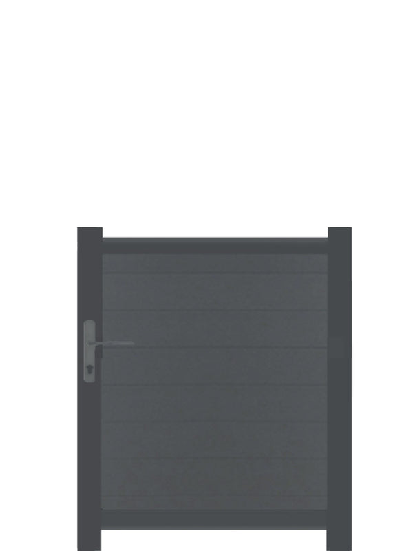 Full Privacy Pedestrian Gate - Dove Grey - 4ft height