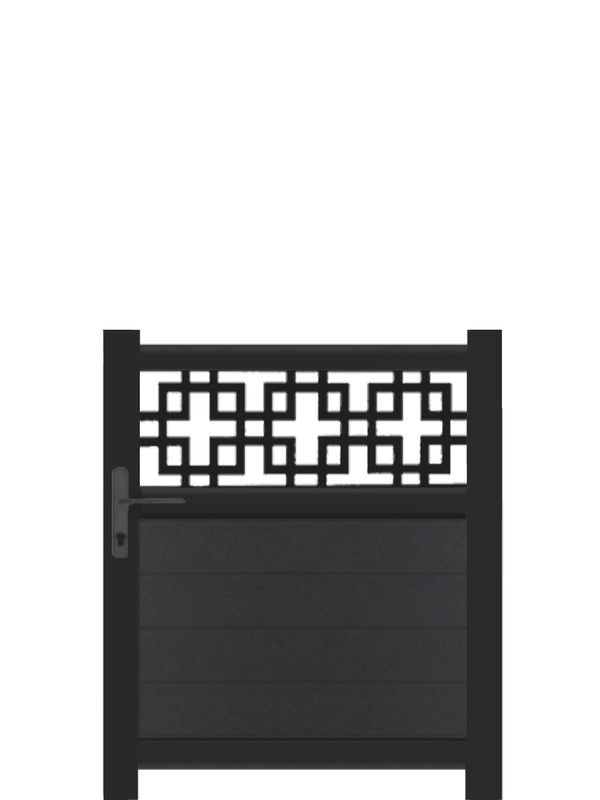 Cubed Trellis Pedestrian Gate - Black - 4ft height