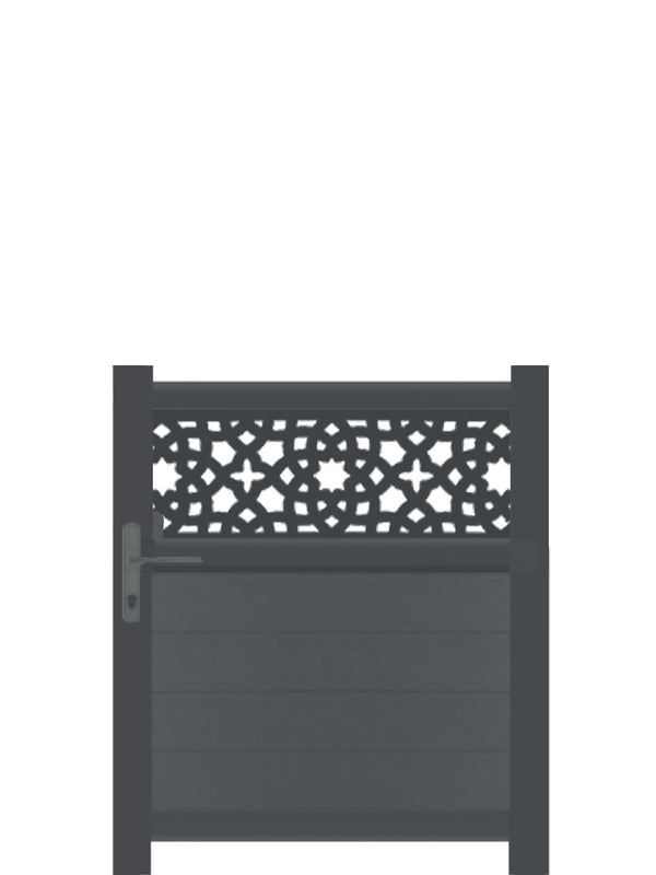 Alhambra Trellis Pedestrian Gate - Dove Grey - Tall
