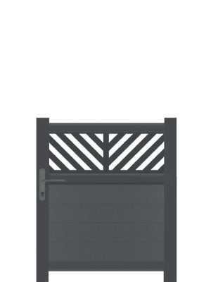 Vector Trellis Pedestrian Gate - Black - Tall