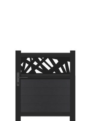 Kerplunk Trellis Pedestrian Gate - Black - 4ft height
