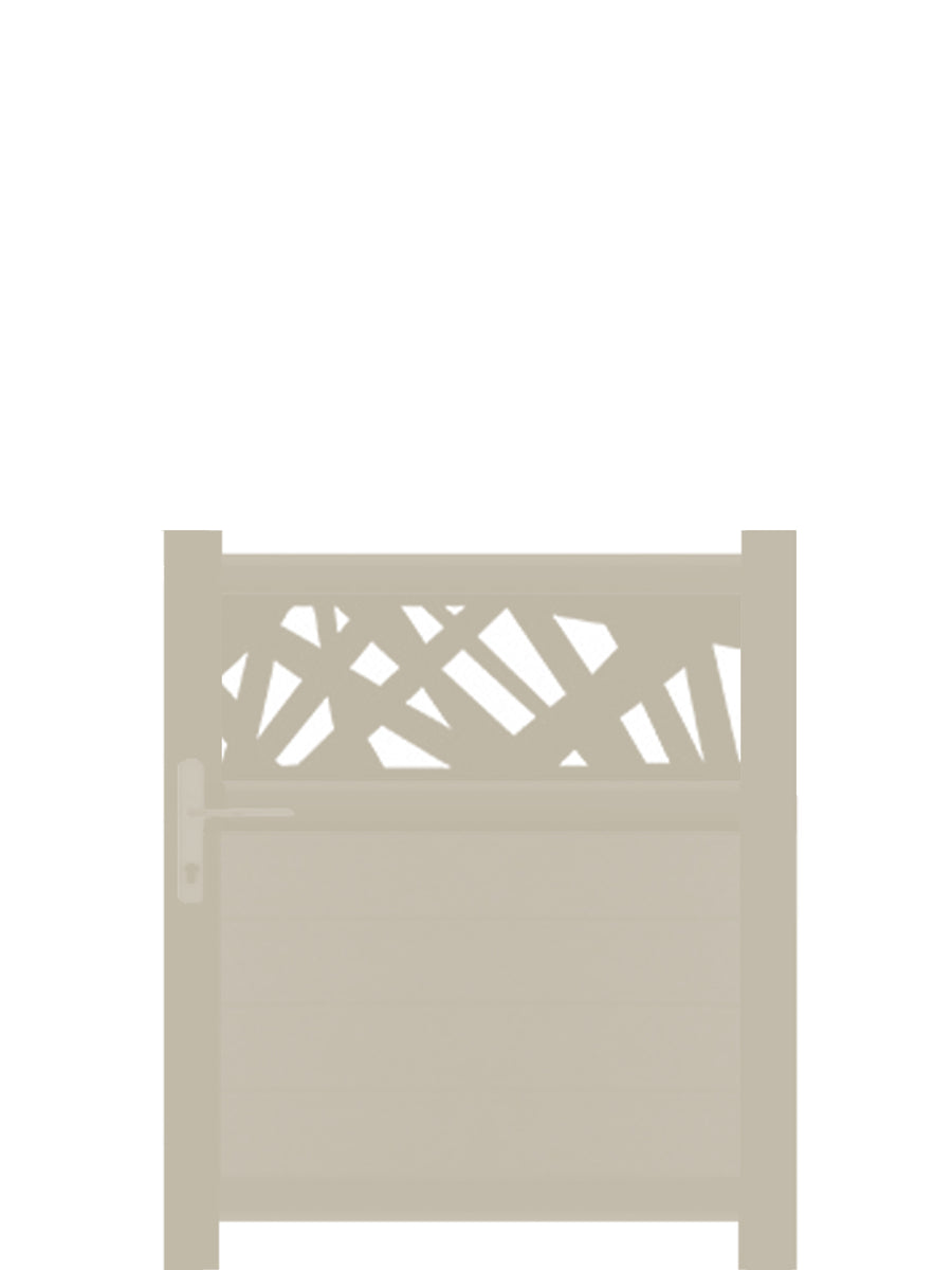 Kerplunk Trellis Pedestrian Gate - Dove Grey - 3ft height