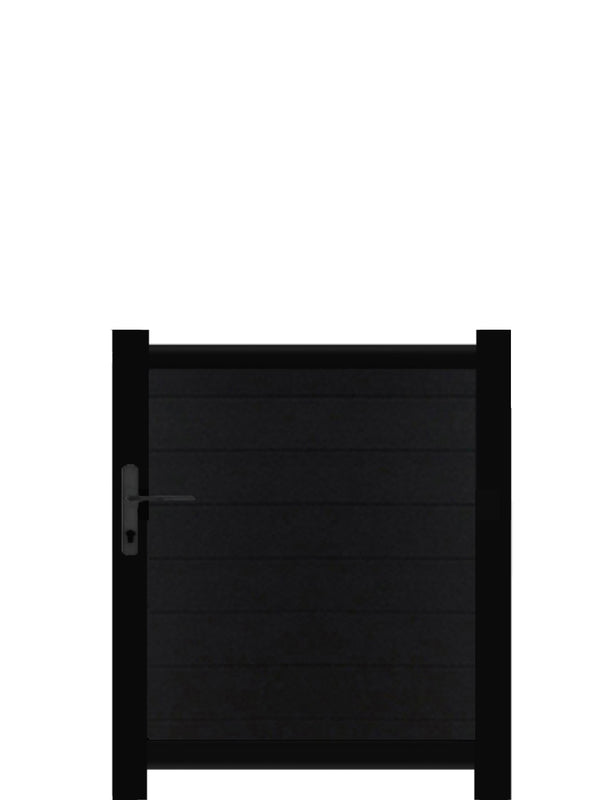 Full Privacy Pedestrian Gate - Black - 4ft height