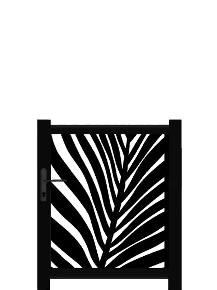 Frond Screen Gate - Black - 3ft height
