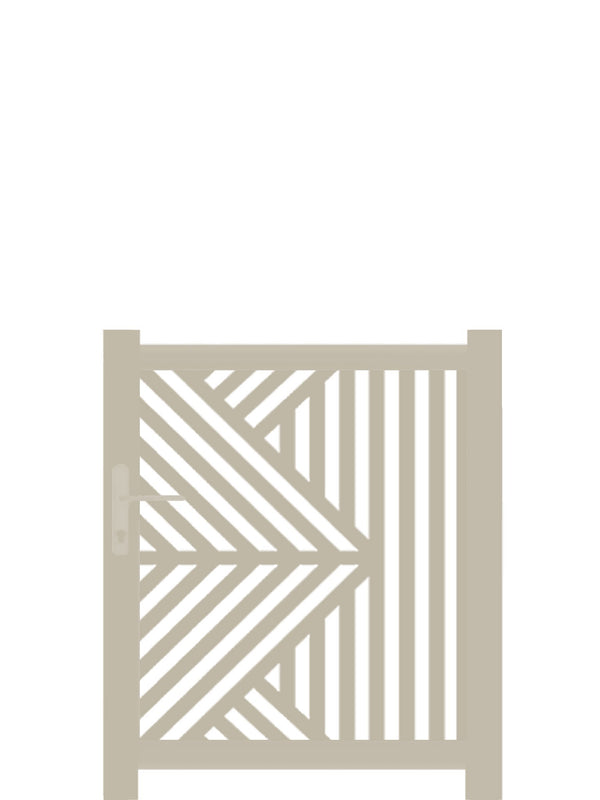 Vector Screen Gate - Dove Grey - Tall