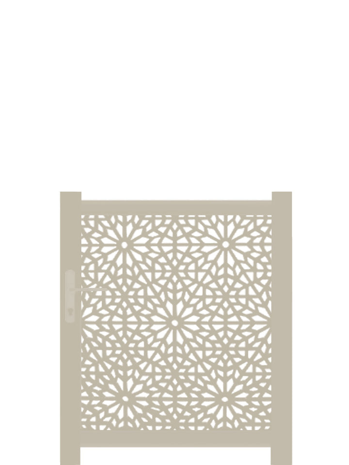 Moucharabiya Screen Gate - Cream - 3ft height