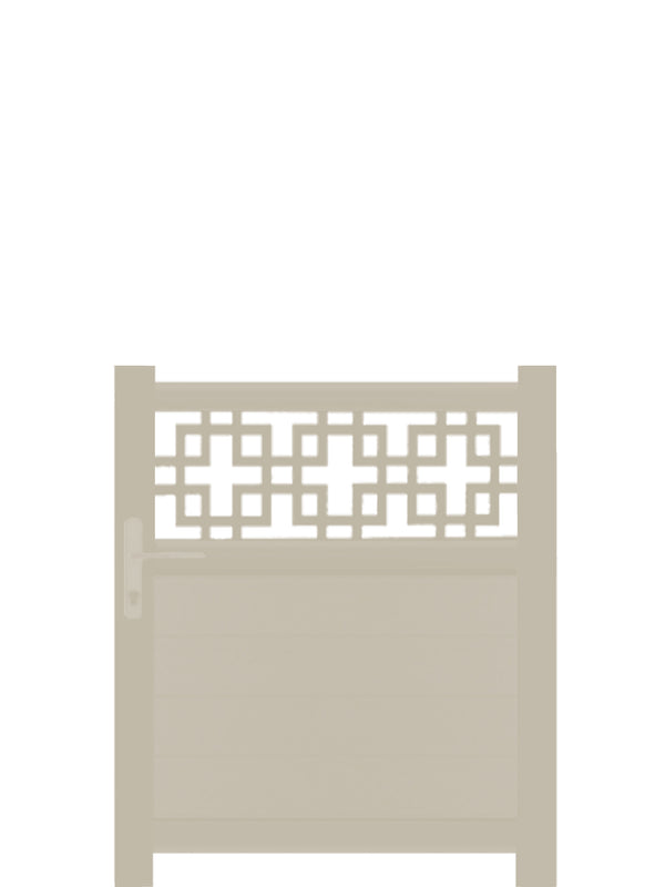 Cubed Trellis Pedestrian Gate Cream - 3ft height